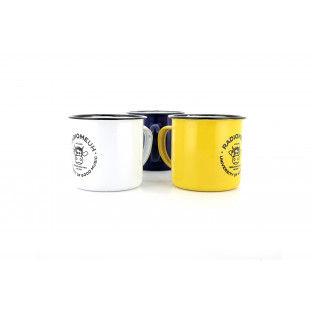 Mug University lot de 3 bleu / jaune / blanc
